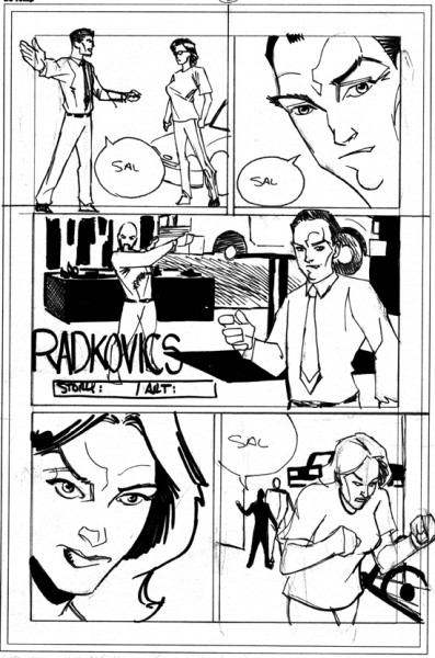 "Rough of ""Radkovic's"" Page 2 by Rob Jones"