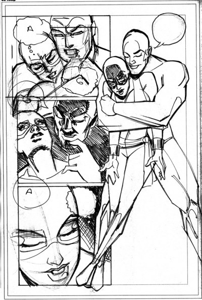 "Rough of ""Radkovic's"" Page 7 by Rob Jones"