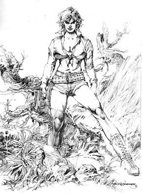 Alina Pencil Drawing by Rudy Nebres